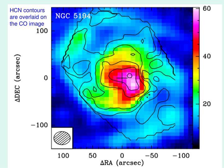 HCN contours