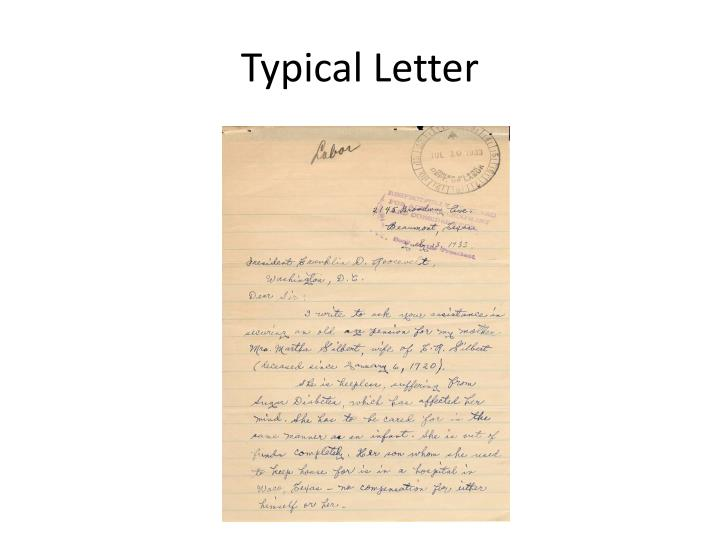 Typical Letter