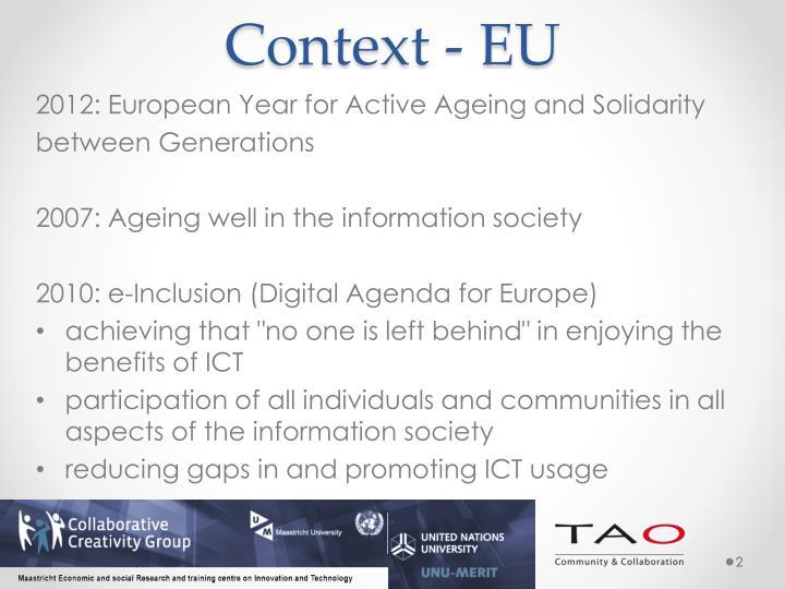 Context - EU