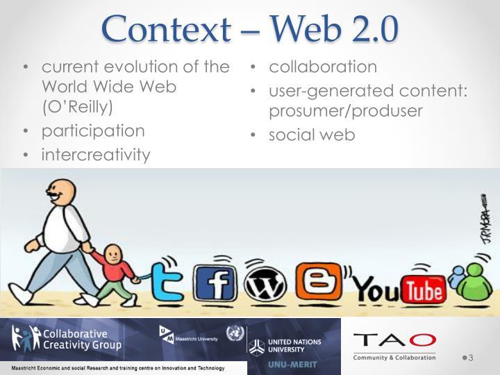 Context – Web 2.0