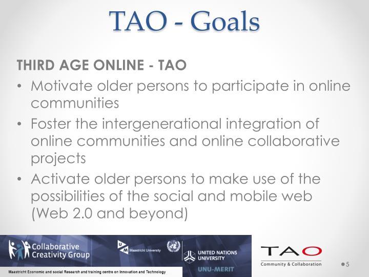 TAO - Goals