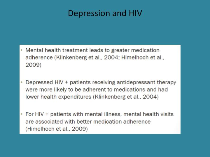 Depression and HIV