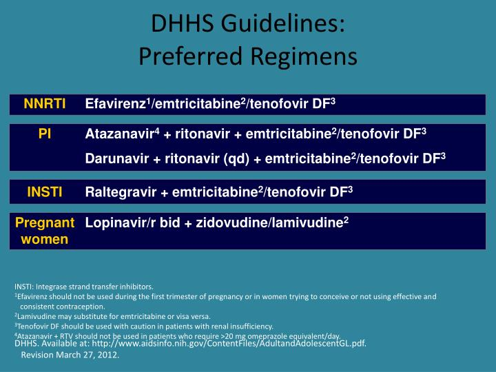 DHHS Guidelines: