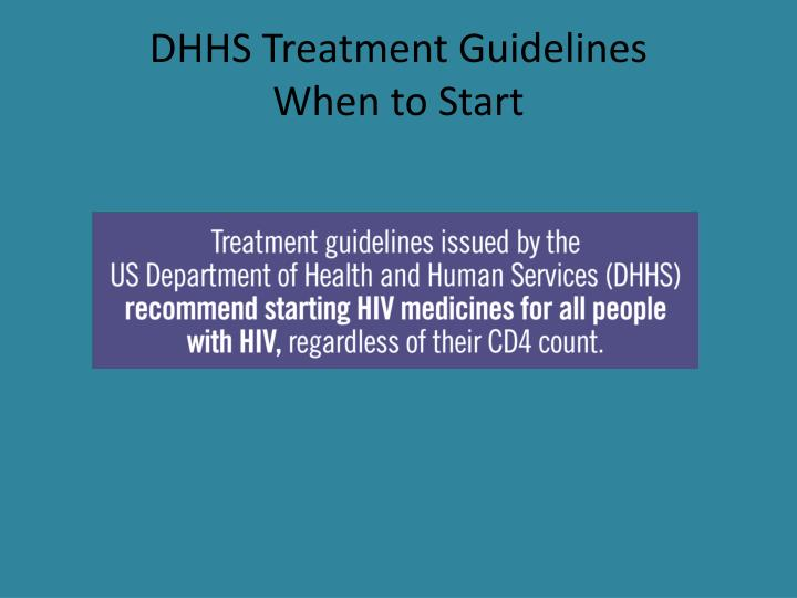 DHHS Treatment Guidelines