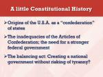 a little constitutional history