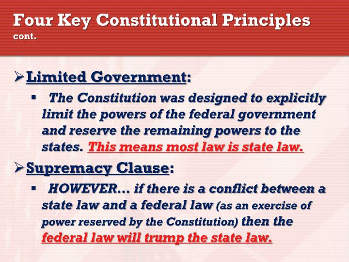 Four Key Constitutional Principles