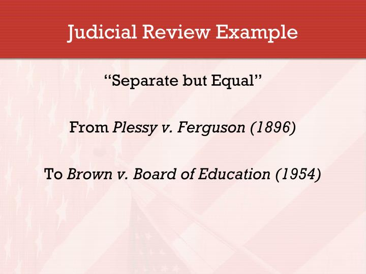 Judicial Review Example
