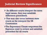 judicial review significance