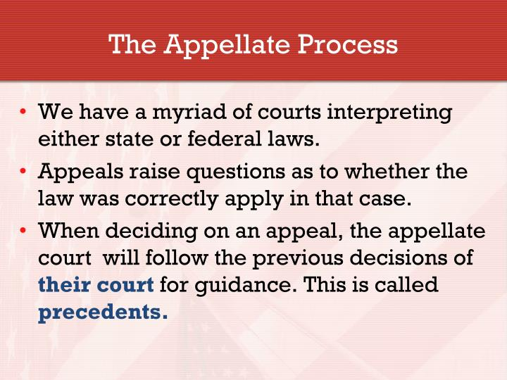 The Appellate Process