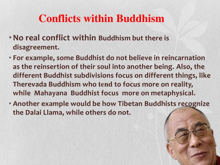 Conflicts within Buddhism