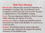 holy days meaning