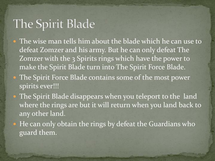 The Spirit Blade