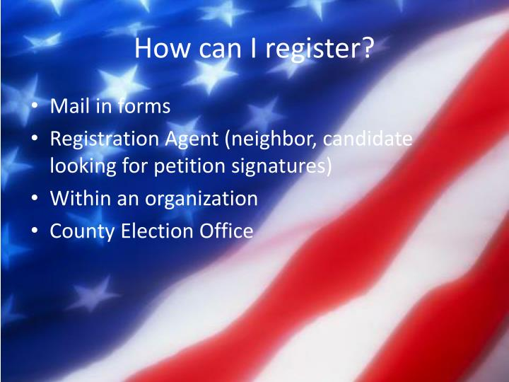How can I register?