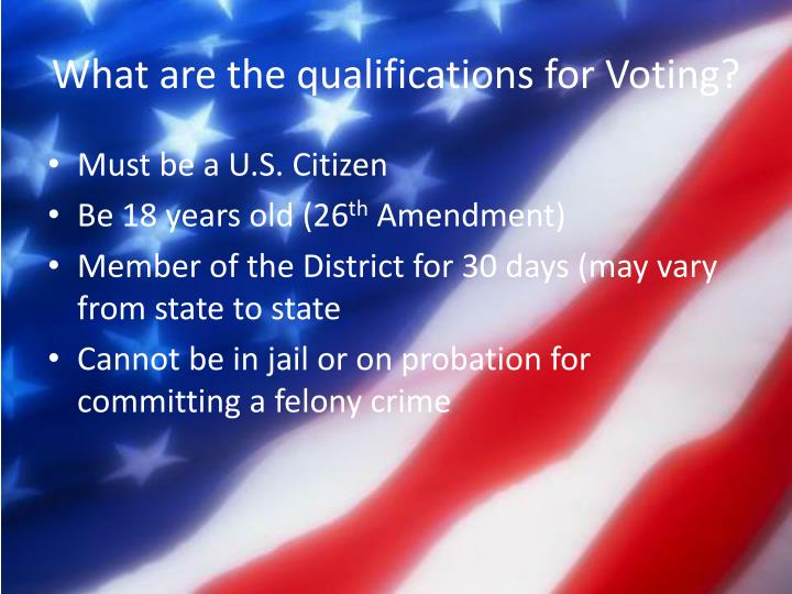 What are the qualifications for Voting?