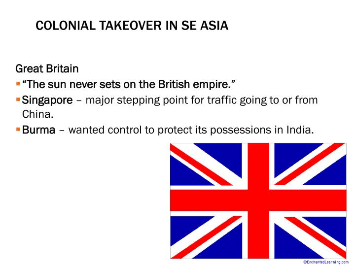 Colonial Takeover in SE Asia