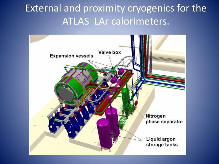 External and proximity cryogenics for the ATLAS