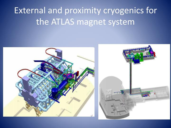 External and proximity cryogenics for the ATLAS magnet system