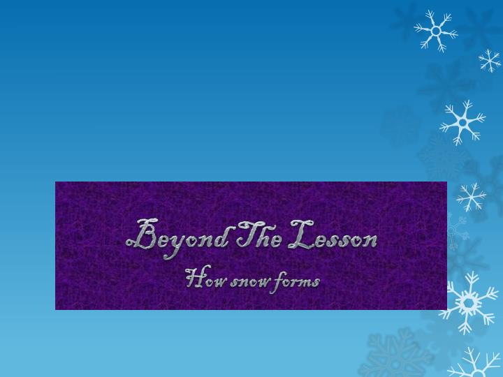 Beyond The Lesson
