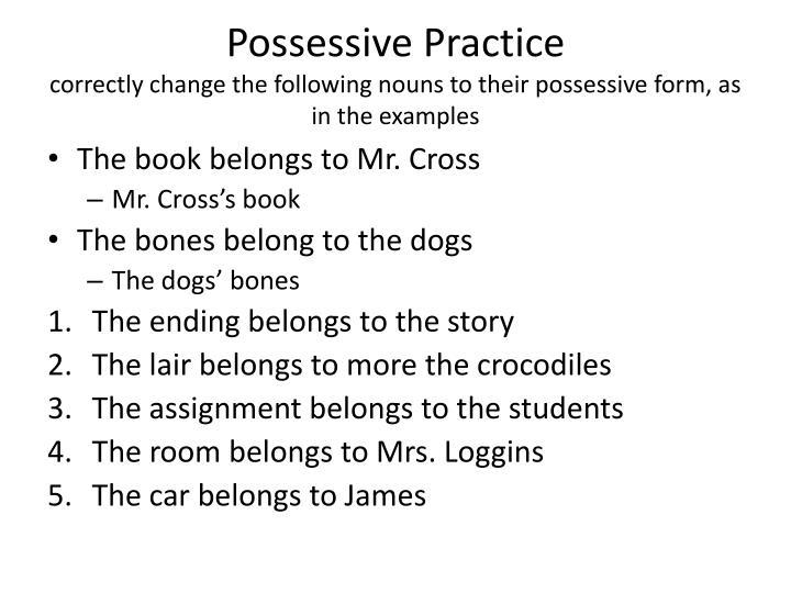 Possessive Practice