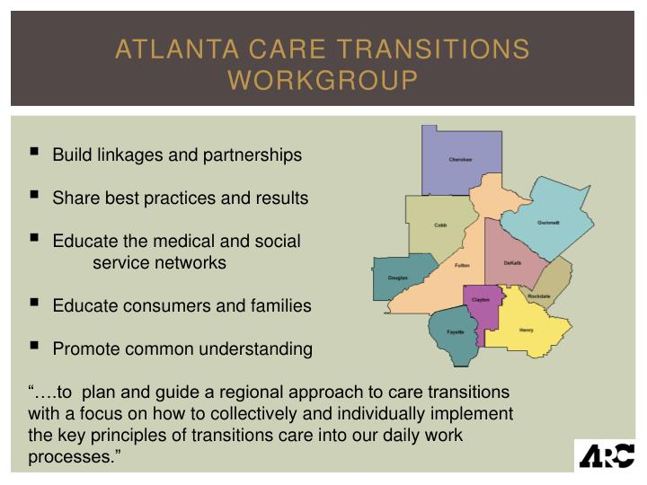 Atlanta care transitions workgroup