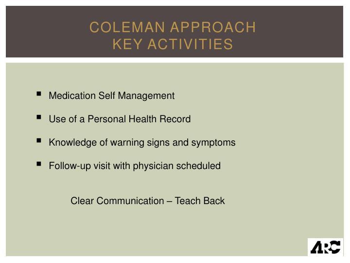 Coleman Approach