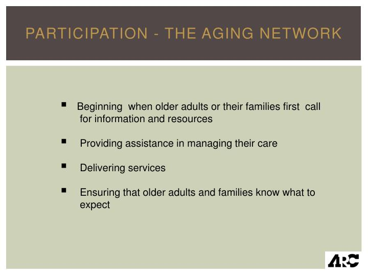 Participation - The Aging Network