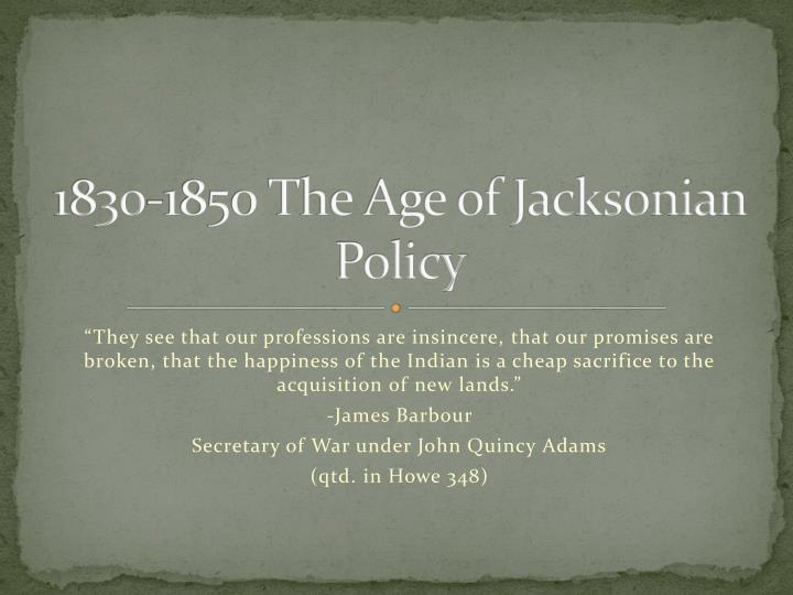 1830-1850 The Age of