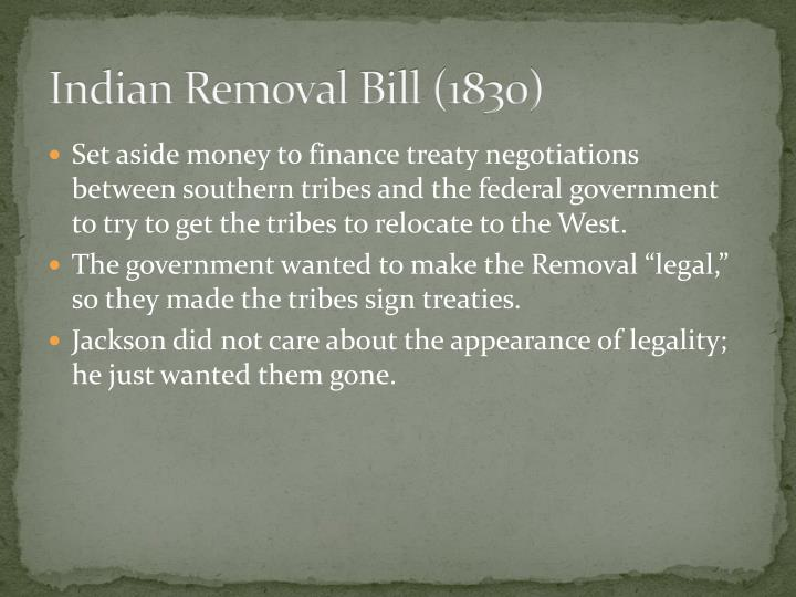Indian Removal Bill (1830)
