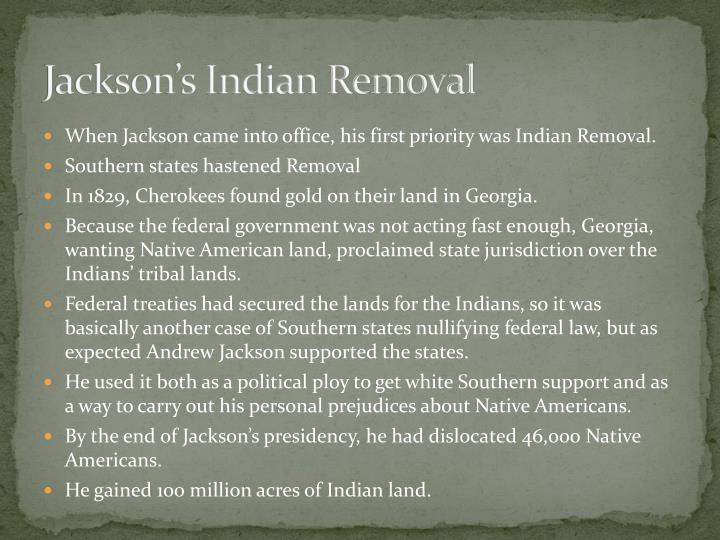 Jackson's Indian Removal