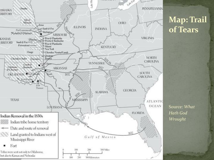 Map: Trail of Tears
