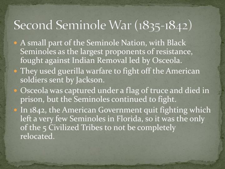 Second Seminole War (1835-1842)