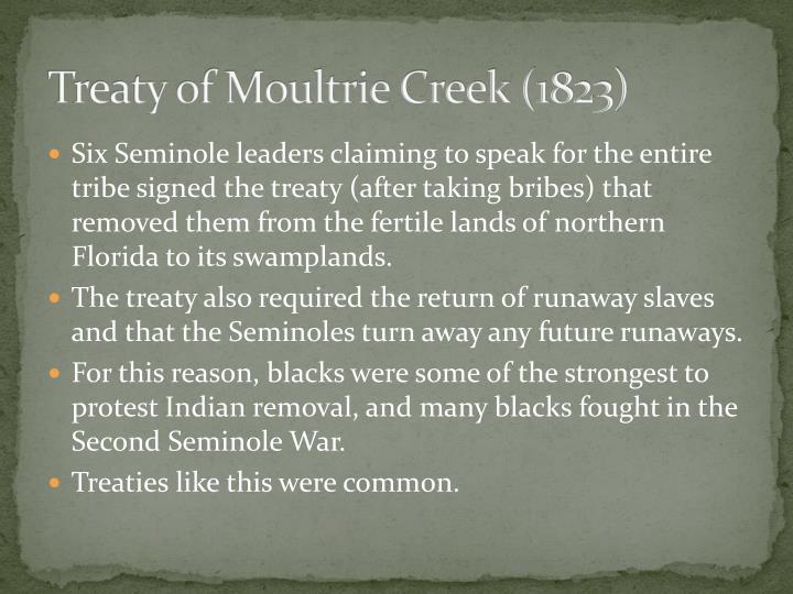 Treaty of Moultrie Creek (1823)