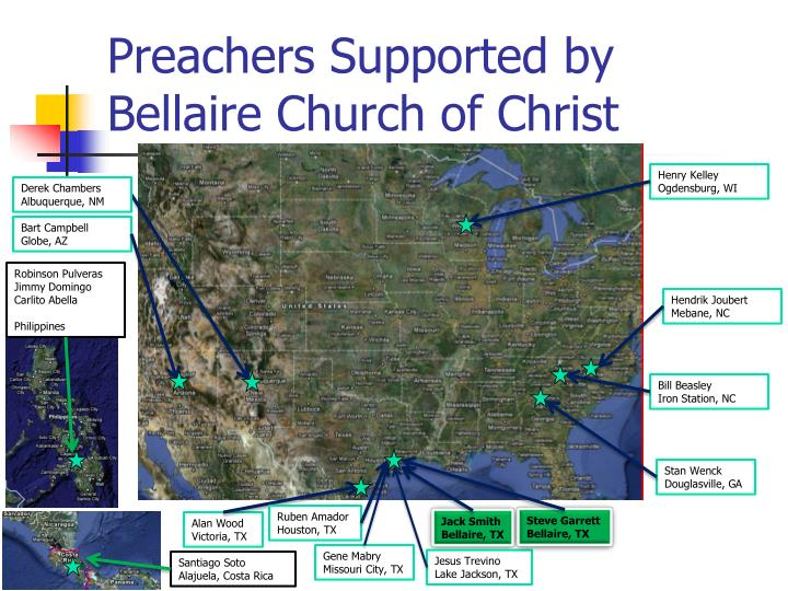 Preachers supported by bellaire church of christ