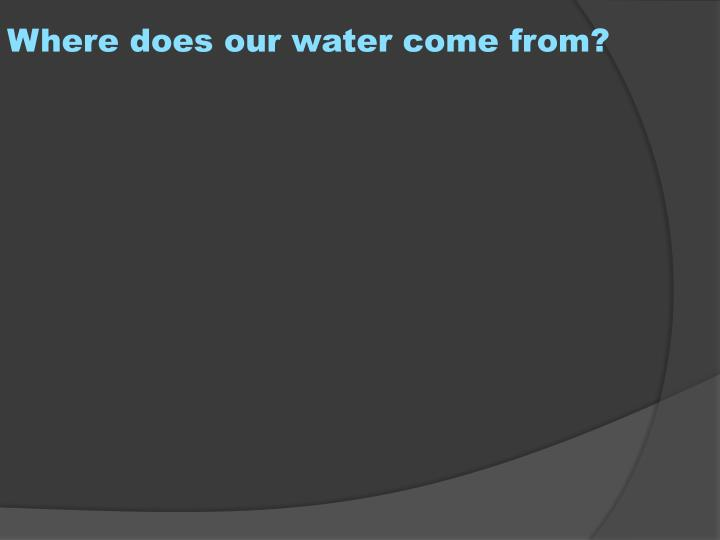 Where does our water come from?