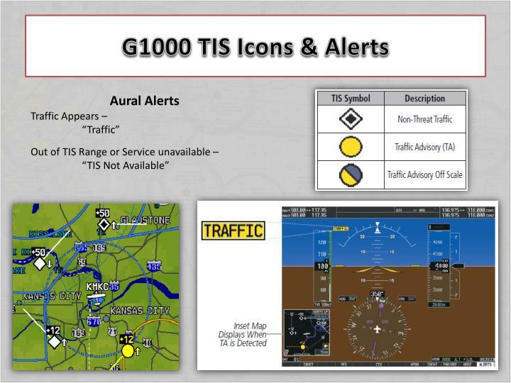 G1000 TIS Icons & Alerts