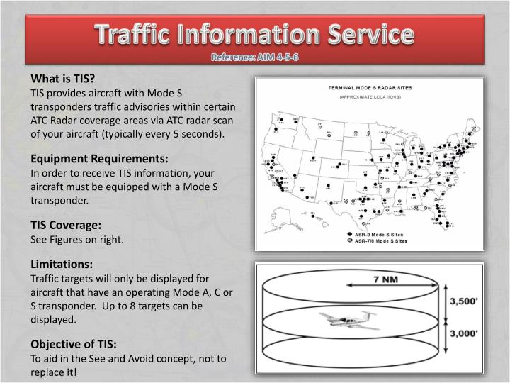 Traffic information service reference aim 4 5 6