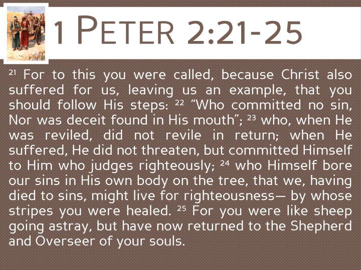 1 Peter 2:21-25