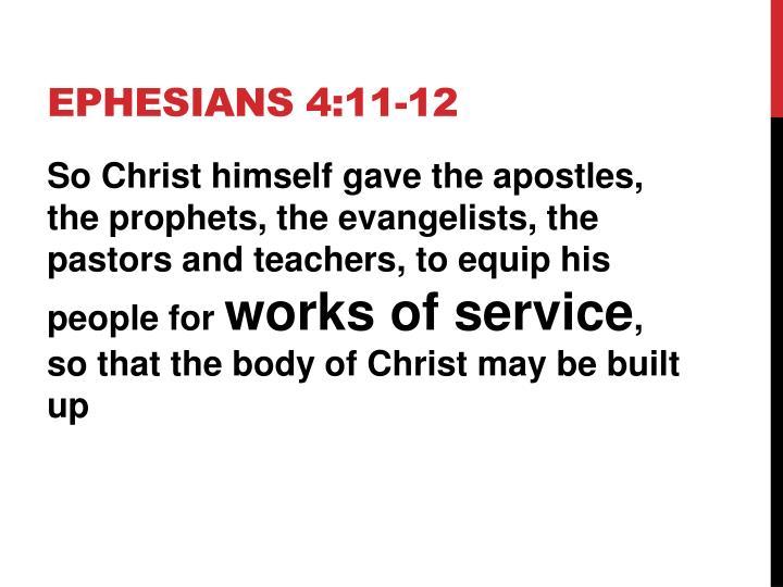 EPHESIANS 4:11-12