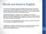 words not found in english