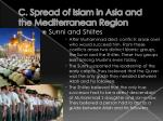 c spread of islam in asia and the mediterranean region2