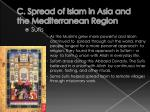 c spread of islam in asia and the mediterranean region6