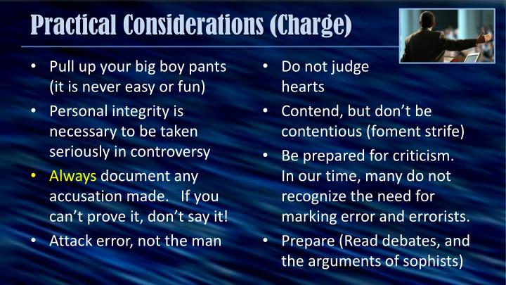 Practical Considerations (Charge)