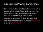 a lesson on prayer conclusions1