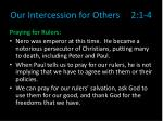 our intercession for others 2 1 44