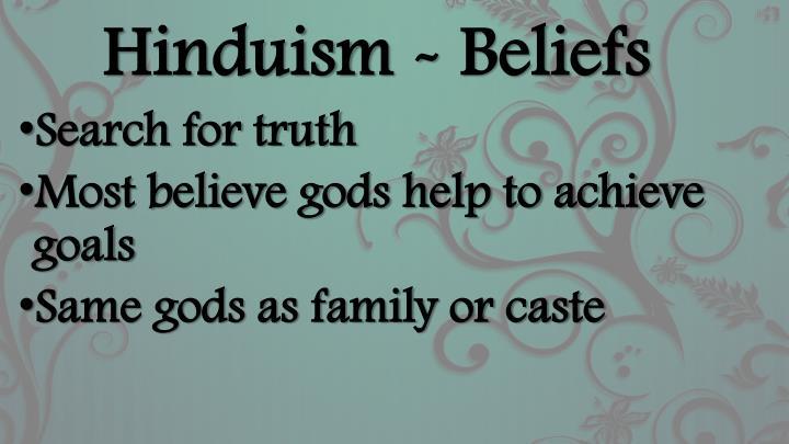 Hinduism - Beliefs