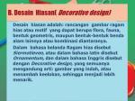 b desain hiasan decorative design