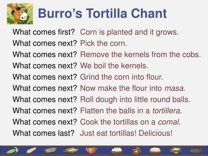 Burro s tortilla chant