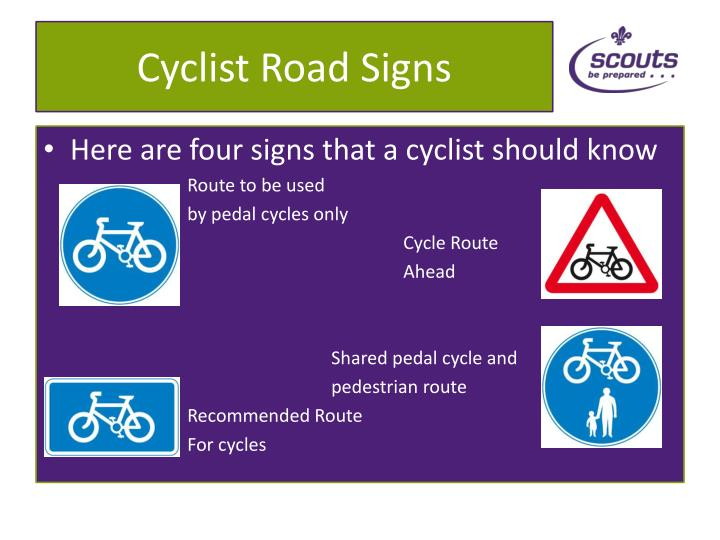 Cyclist Road Signs