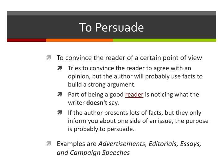 To Persuade
