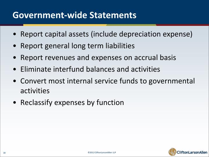 Government-wide Statements